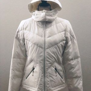 J. Crew White Down Feather Jacket Size M
